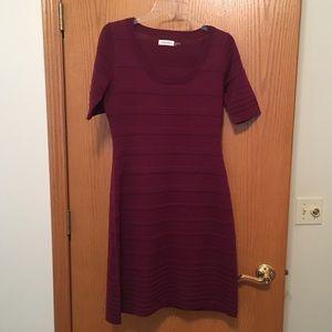 Calvin Klein Burgundy sweater dress S